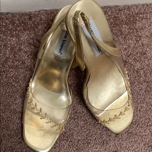 Barely worn gold shoes